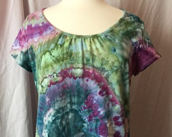 Ice Dyed Ladies Top, Size Extra Large, #186