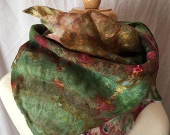 Ice Dyed Linen Bandana, #031