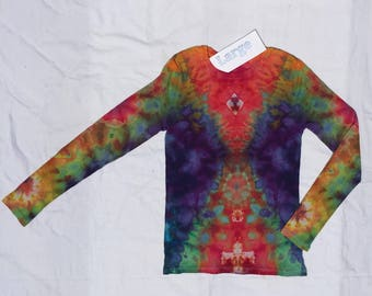 Women's Size Electric Rainbow Long Sleeve   #WSL17701