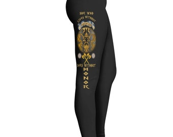 e8503fe361625 Viking Leggings For Women - Women's Black Yoga Jogging Warrior Fashion  Workout Pants