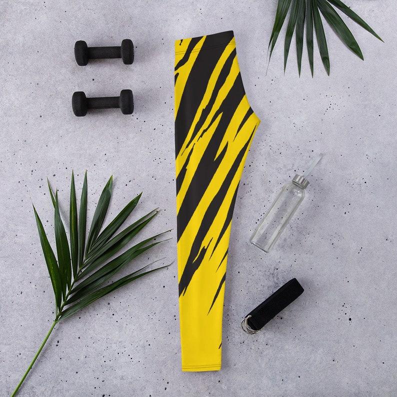 Yellow Tiger Women/'s All Over Print Yoga Leggings