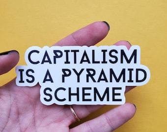 Anti Capitalism Vinyl Donation Stickers