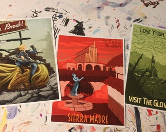 Wish You Were Here - 5x7 Fallout Postcard Set