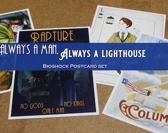 Always a Man, Always a Lighthouse - 5x7 Bioshock postcard prints