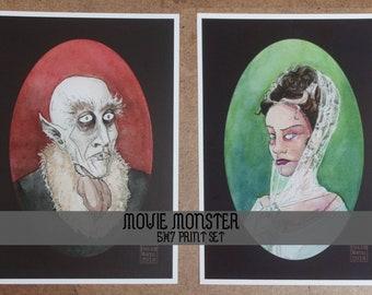Classic Movie Monster Portraits