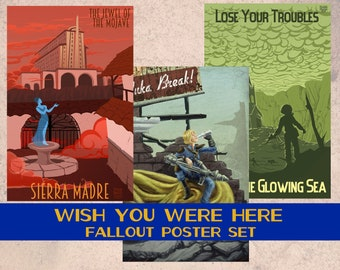 Wish You Were Here - Poster Set