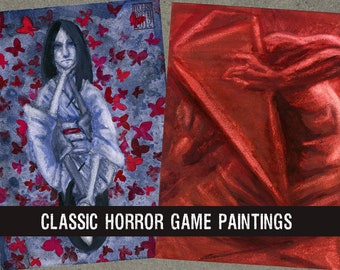 Classic Horror Game Series Paintings