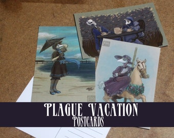 Plague Vacation Postcards