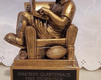 Fantasy Football Armchair Quarterback Trophy/Award Free Engraving!!!