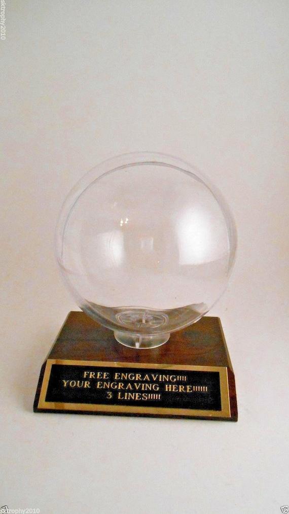 BASEBALL HOME RUN TROPHY BALL HOLDER PROTECTIVE  DISPLAY CASE-FREE ENGRAVING!!!