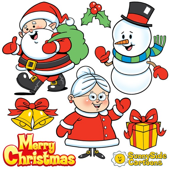 Christmas Cartoon Images Clip Art.Christmas Cuties Download These Adorable Christmas Cartoons And Add Some Festive Fun To Your Holiday Project