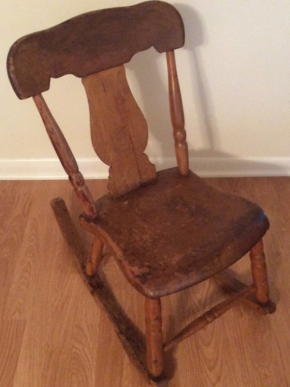 image 0 - Antique Sewing Nursing Rocker Low Armless Wooden Victorian Etsy