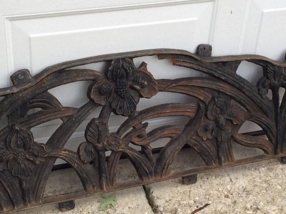 Tremendous Vintage Cast Iron Park Bench Panels Architectural Pediment Decorative Metal Panel Ornate Iron Salvage Park Bench Floral Steampunk Garden Ibusinesslaw Wood Chair Design Ideas Ibusinesslaworg