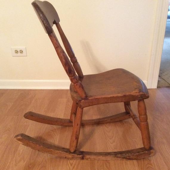 50 - Antique Sewing Nursing Rocker Low Armless Wooden Victorian Etsy