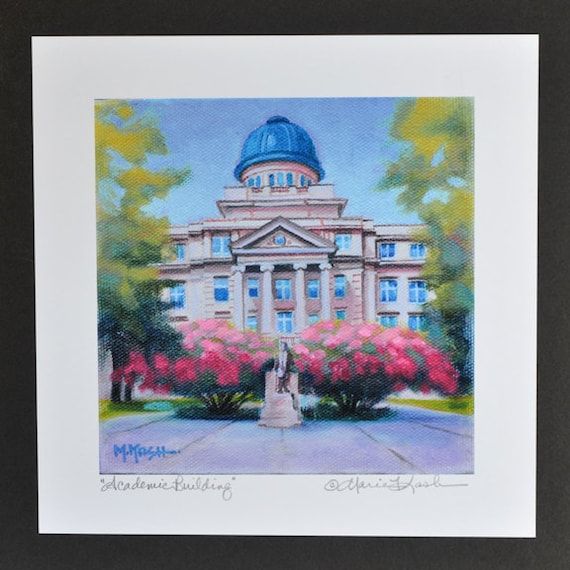 Texas A M Print College Art Print Texas A And M Fine Art Etsy