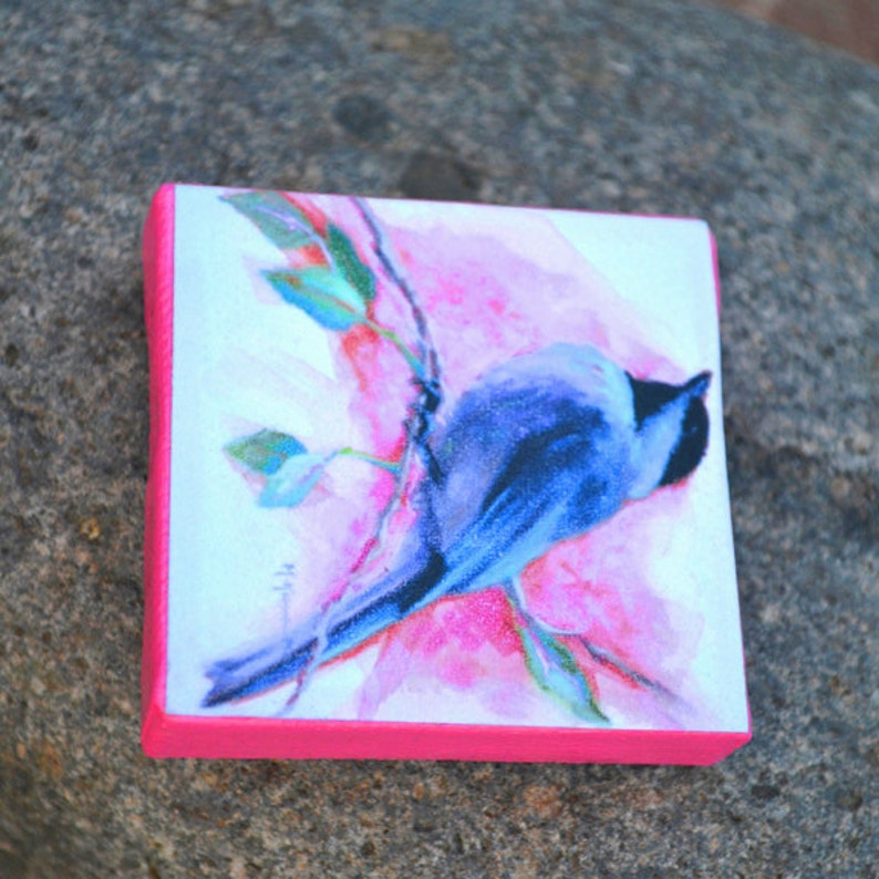 Chickadee Magnet  Bird Magnet *MORE MAGNETS* available under Ornaments /& Magnets section