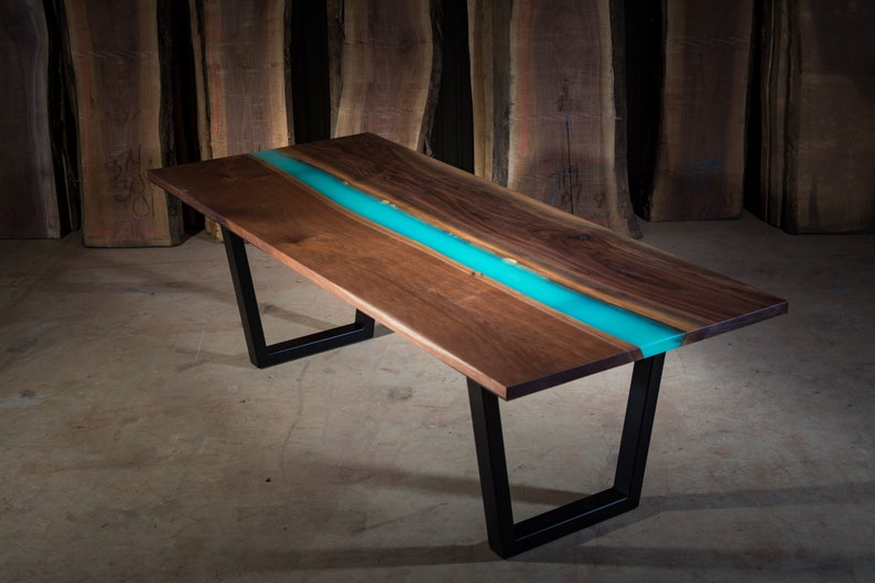 Glow in the dark epoxy resin table etsy - Glow in the dark resin table ...
