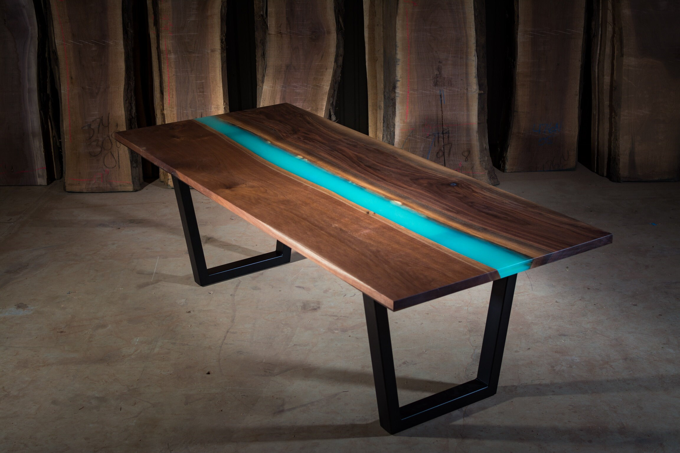 Glow in the dark river table etsy - Glow in the dark table ...