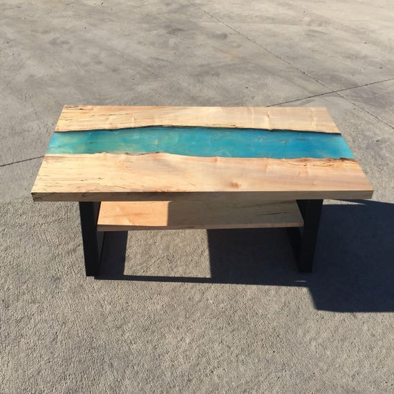 Outstanding Blue Water Resin Coffee Table By Kristopher Kirkpatrick Camellatalisay Diy Chair Ideas Camellatalisaycom