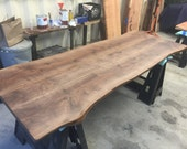 Walnut Table Top & Bench...
