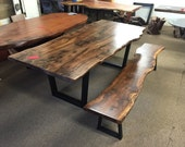 Walnut Table & Bench by D...