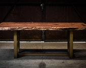 Burled Redwood Table on G...