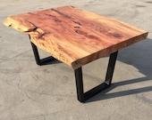 Single Slab Redwood Table...