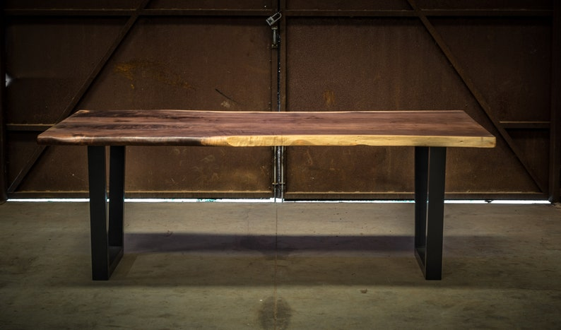 Figured Black Walnut Dining Table
