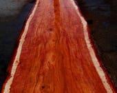 Redwood Slab with 100% Bu...