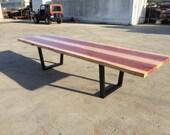 Long Redwood Table