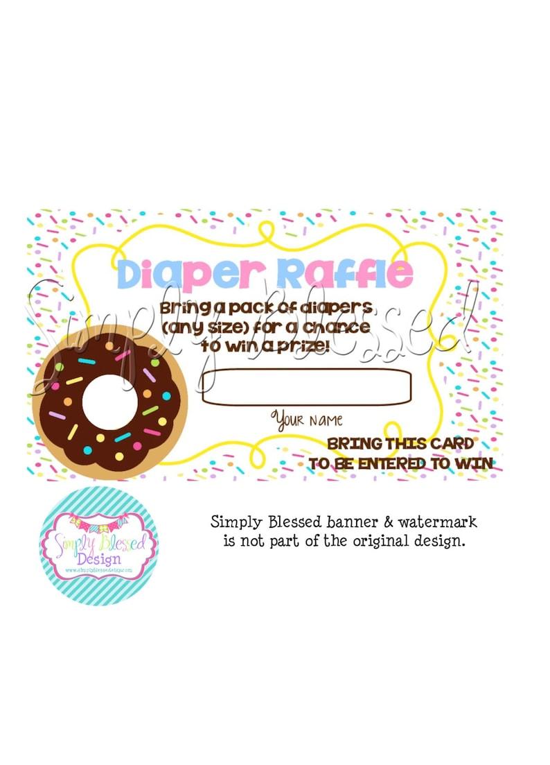 DONUT Gender Reveal Invitation DIY By: SimplyBlessedDesign ...