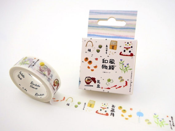 cherry blossoms plum flower geisha Fuji Japanese washi tape Daruma dolls Mt
