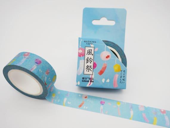 furin wind chimes ramen planner tape Fuji cats Kawaii Japanese washi tape Mt
