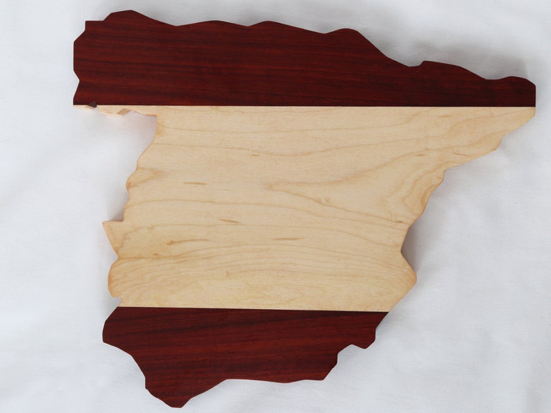 Cheese board in a shape of Spain image 0