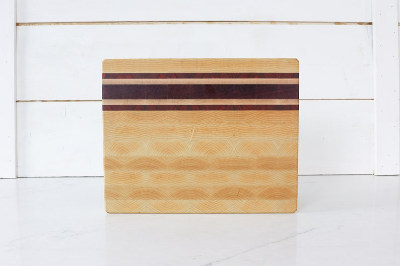 Hand Made Cutting Board end grain butcher chopping block. image 0