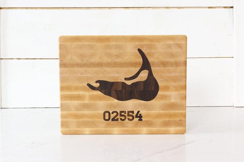 Nantucket Island Maple cuttingboard with Nantucket Zipcode image 0