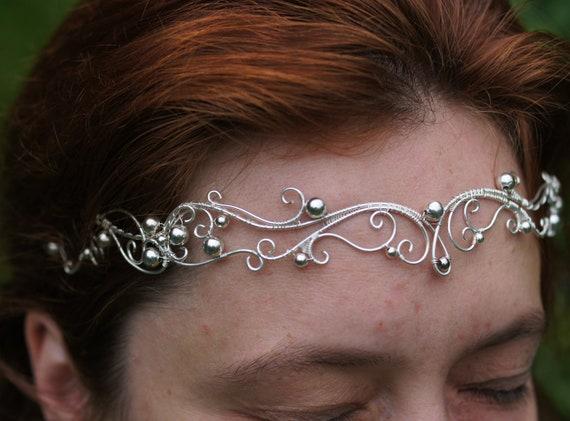 elven diadem elven jewelery wedding diadem wire diadem Diadem Chibiusa elf circlet elven tiara