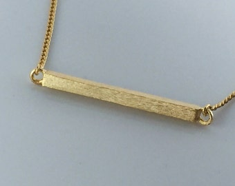 gold Horizontal bar necklace, matte crossbar,high-quality,gift for you or friends,Wedding gifts, bridesmaid necklaces