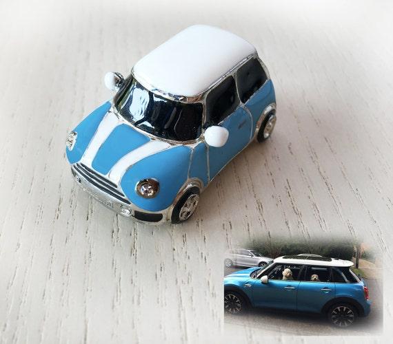 Customized Blue Mini Car Blue Body Color Custom White Car Etsy