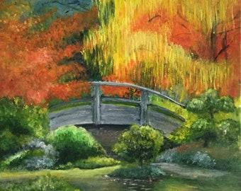 Japanese garden - acrylic on canvas