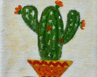 Series - Mini cactus - acrylic on cotton canvas