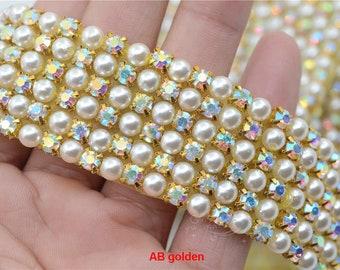 028d4a2203 Row pearls trim   Etsy