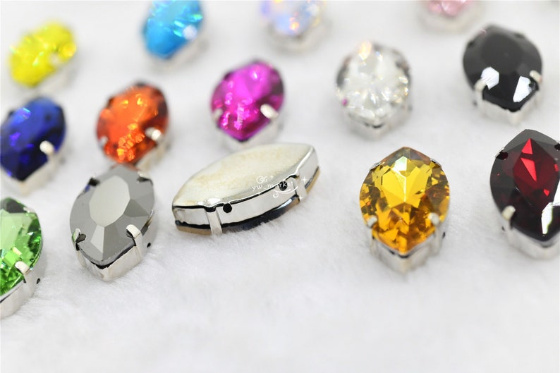 All Size Navette Glass Crystal Rhinestone With Strong Setting Sew On