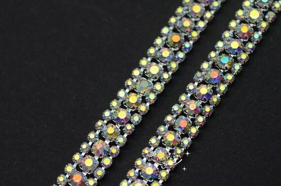 green gold gem trim braid cake decoration dance wedding ribbon rhinestone