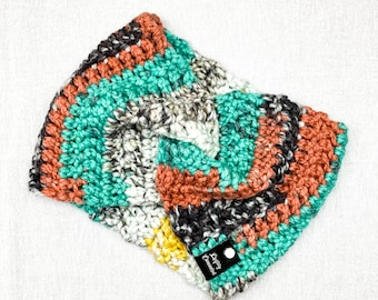 Crochet Twist Ear warmer Headband, Painted Canyon | One Size, Adult | Cold Weather Accessories | Earmuff Headscarf