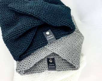 Knit Twist Ear warmer Headband | Multiple Colors Available | One Size, Adult | Cold Weather Accessories | Earmuff Headscarf