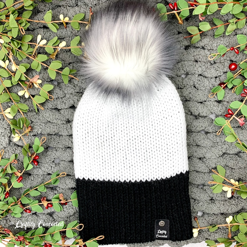 Chunky Hat Knit Beanie Winter Hat Chunky Beanie Knitted Hat Mens Knit Hat Double Layered Knit Hat Fall Hat Winter Knit Hat