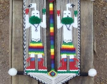 Vintage Ojo de Dios  God's Eye Hopi Katchina God's Eye
