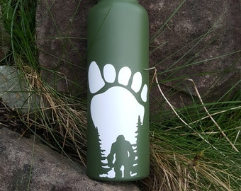 WATERPROOF BIGFOOT STICKER Use on Water Bottle Laptop Window Rated for Outdoor Use on Glass Wood Metal Plastic