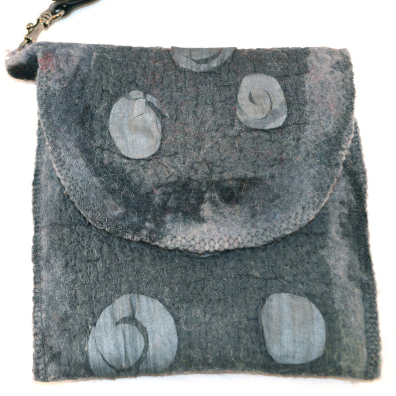 Phoneeyeglass case felted merino wool-silk lined recycle material